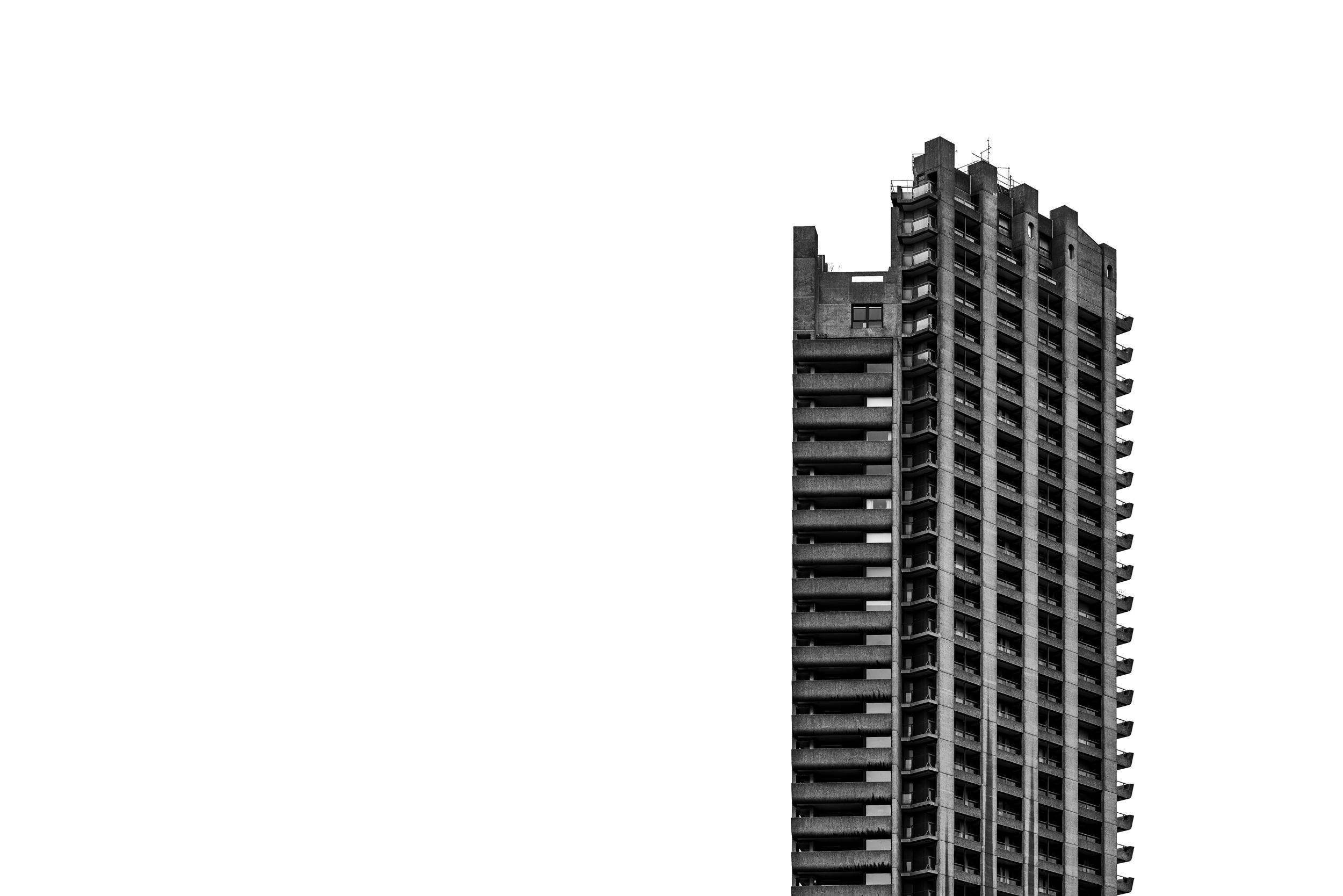 'Barbican Centre Tower Block View' (2018) - taken on my recent Architecture Workshop