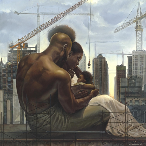 The Black Family by Kevin Williams. This is one of the reasons I appreciate art. A picture is worth a thousand words.