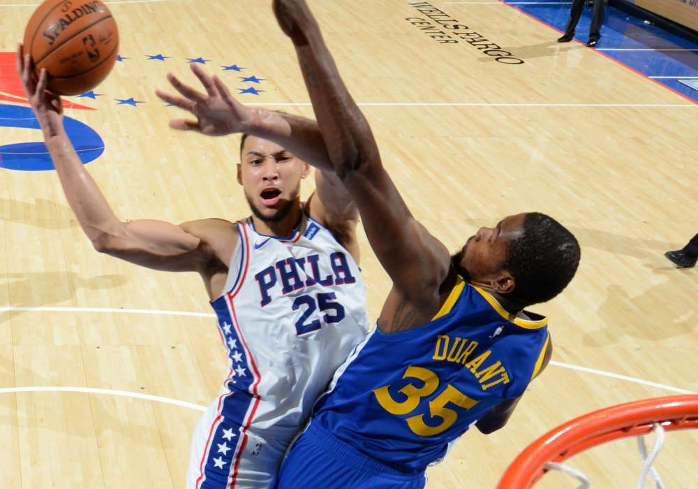 Simmons averaged near 16 points, 8 rebounds, and 8 assists for his rookie season (Photo Credits: Warrior Wire)