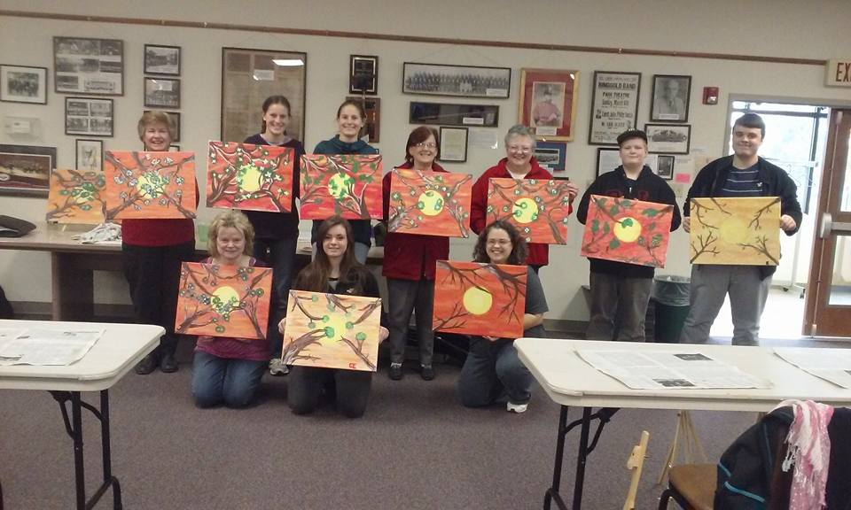 New Holland Library art class we hosted!