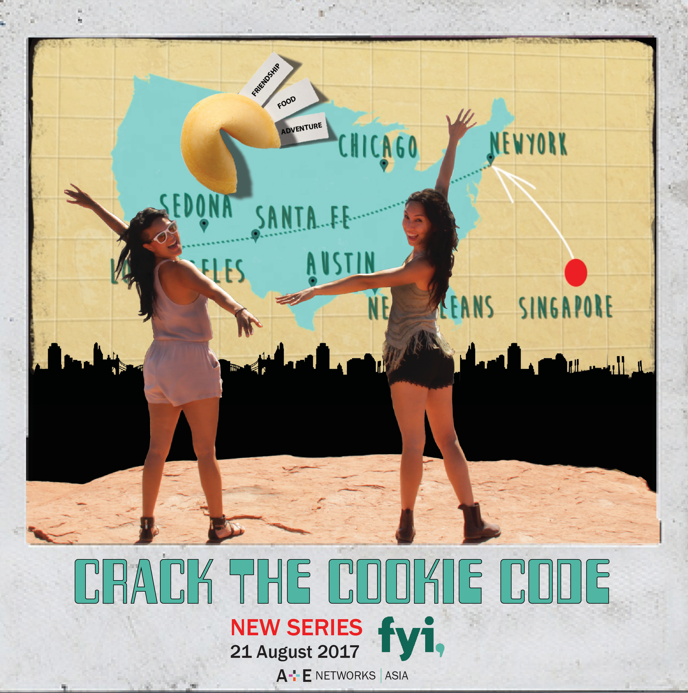 CRACK THE COOKIE CODE - TV SERIES2 Singaporean travel hosts and besties, Elizabeth & Jeane who take on the vast landscape of America. Thirsty for adventure and hungry for transatlantic flavors, they launch into a road trip exploring stunning terrains and Chinese fusion food across the U.S.A.www.theflyingbench.com