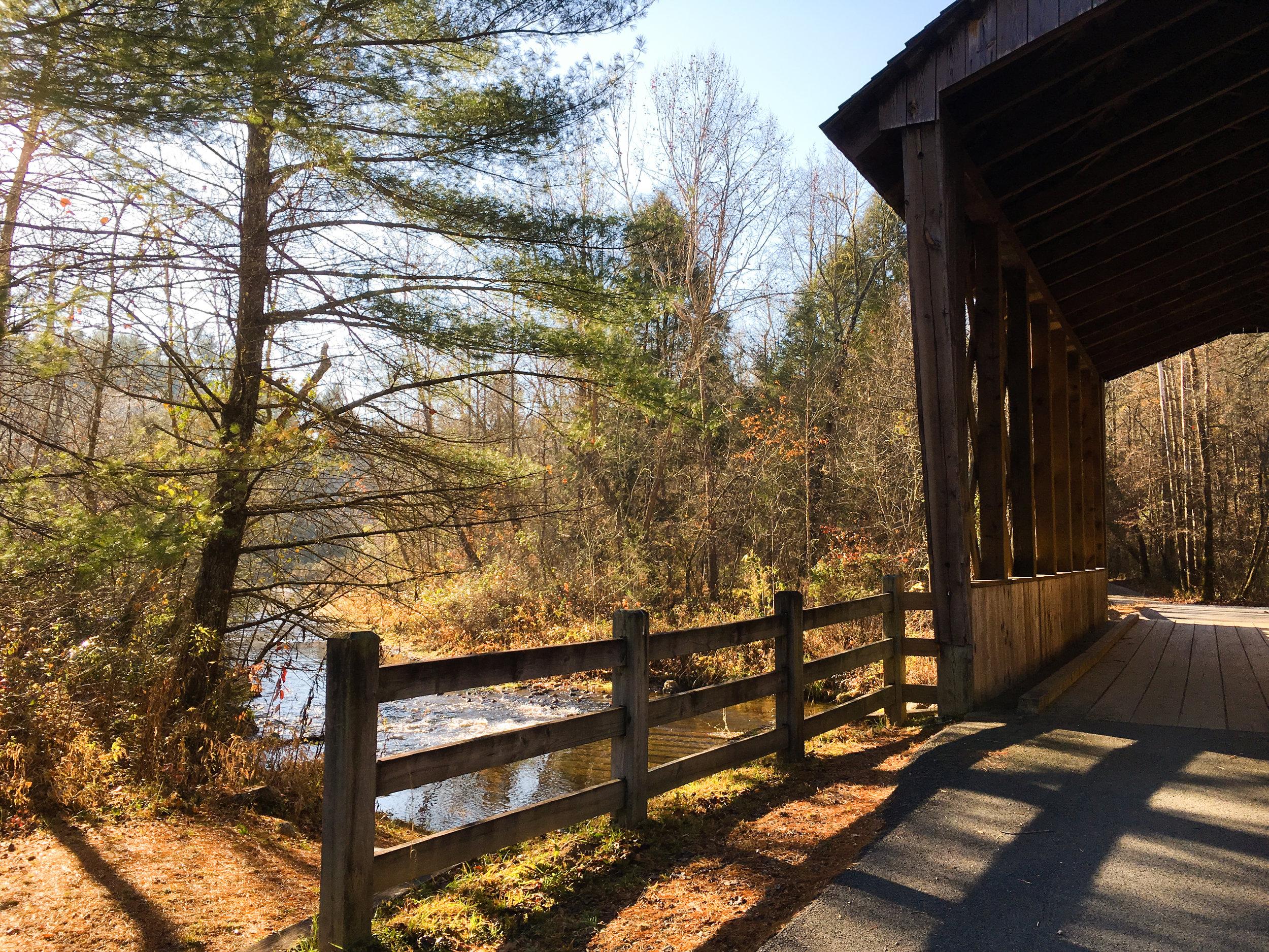 Covered bridge, November 24, 2017