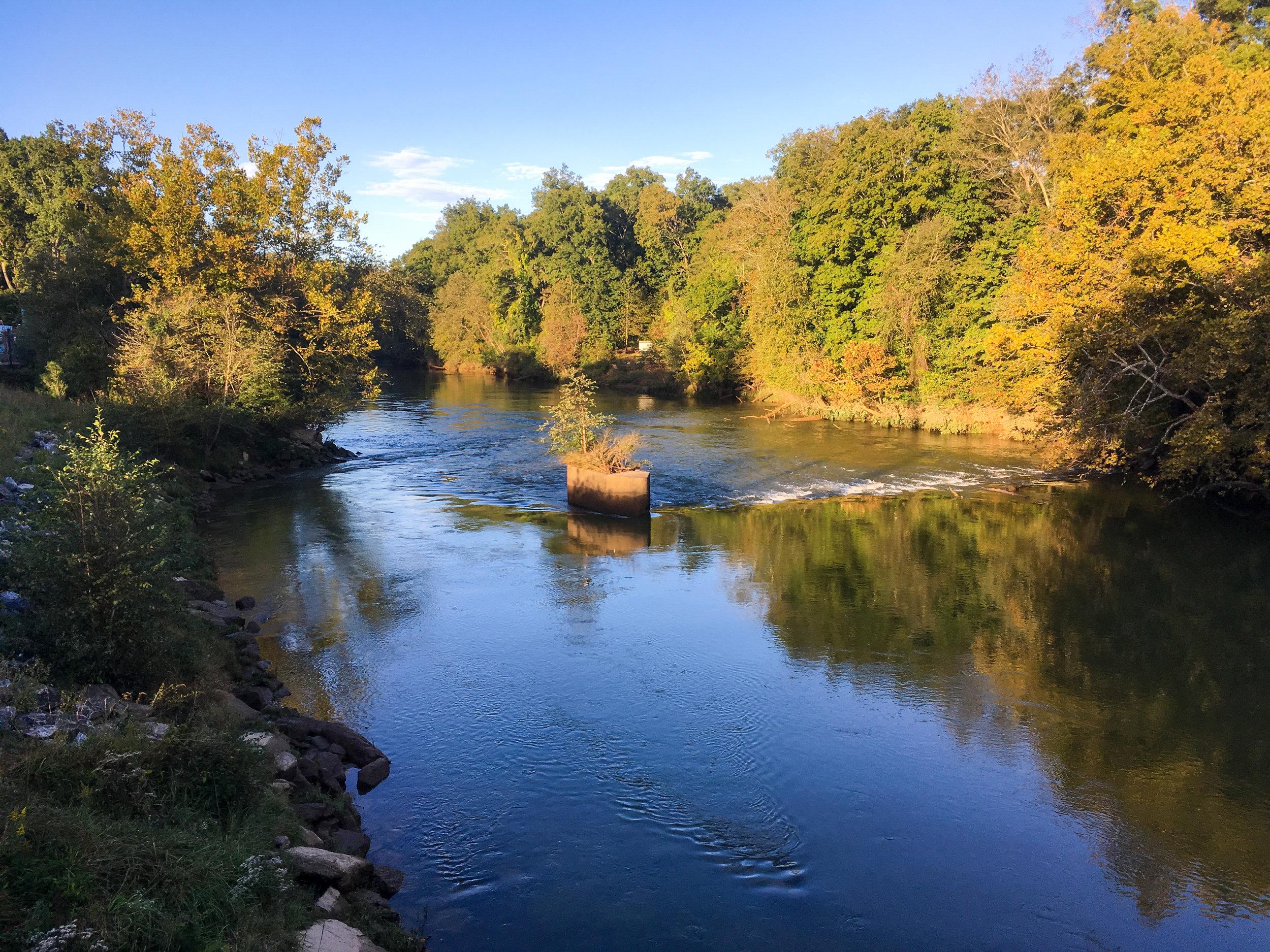 Remnant of original Holcomb Bridge, October 18, 2018