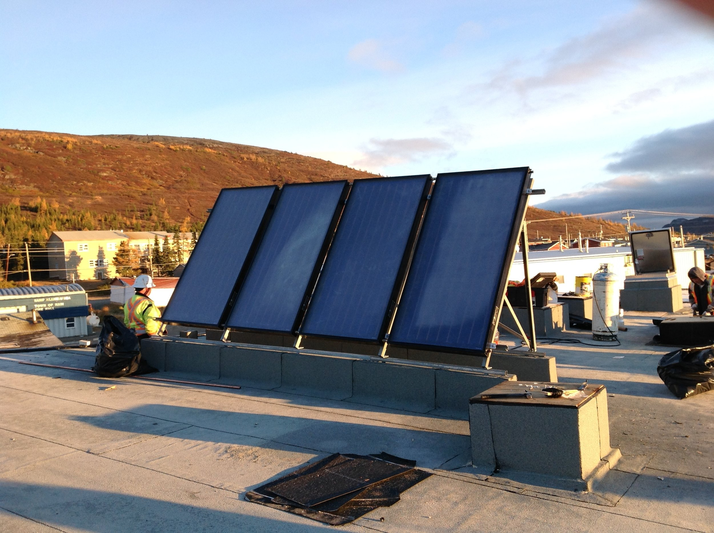 Solar system installed in Nain, NL