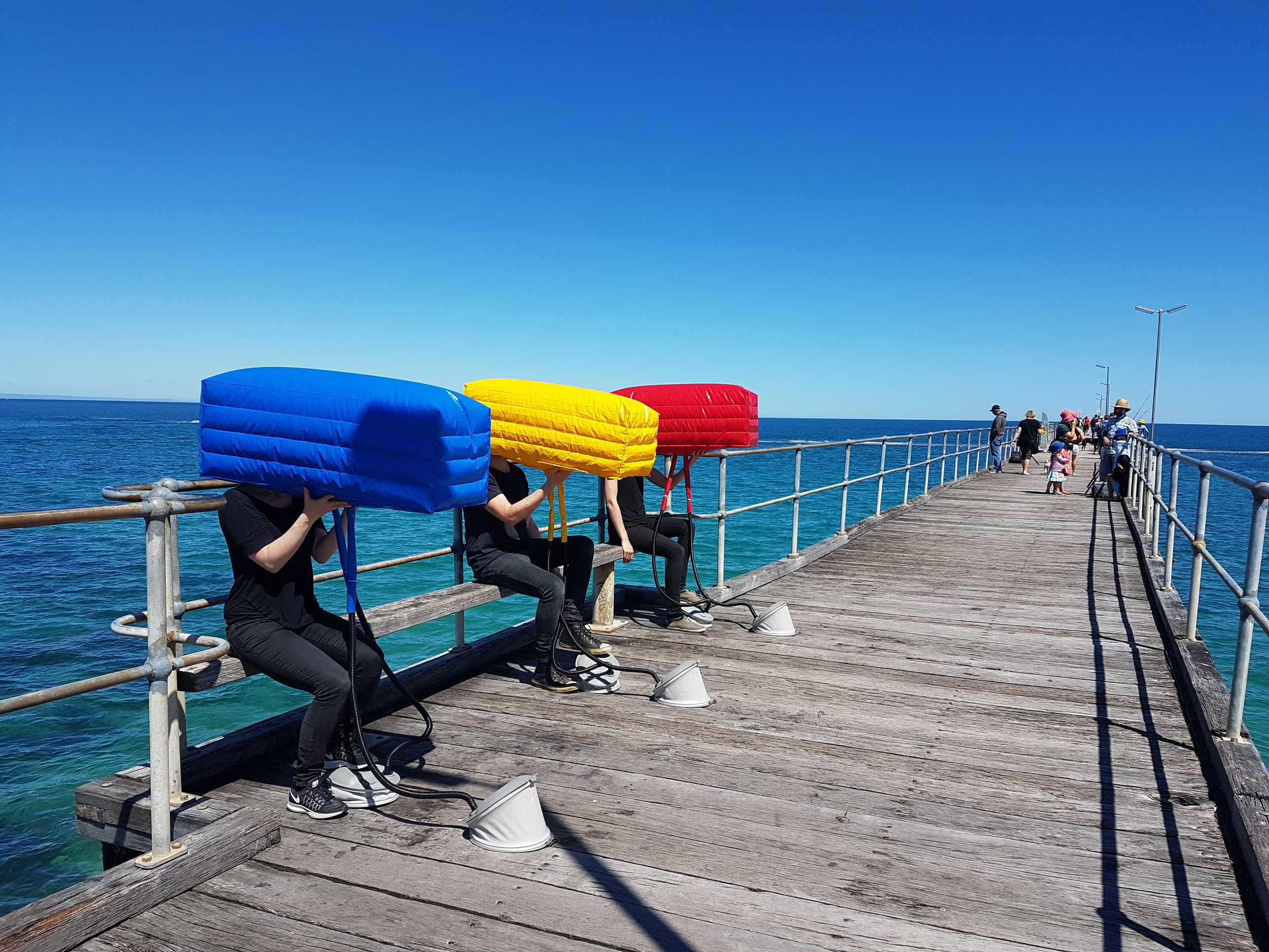 David Cross ' 'Trio' at Port Norlunga Jetty