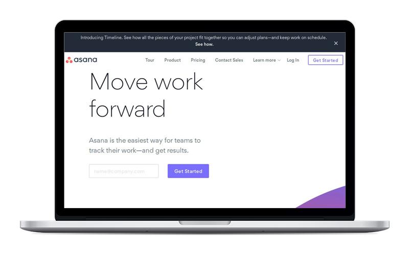 asana - Organización de tareas y proyectos.Su versión gratuita es súper completa.