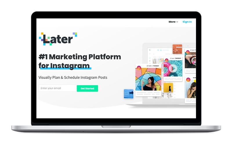 Later - Para programar Facebook, Instagram, Pinterest y Twitter.Versión gratuita bastante buena. Al registrarte con mi link te regalan 10 publicaciones extras al mes.