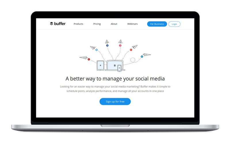 Buffer - Para programar Facebook, Instagram, Pinterest, Google+, Linkedin y Twitter.Su versión gratuita es algo limitada.