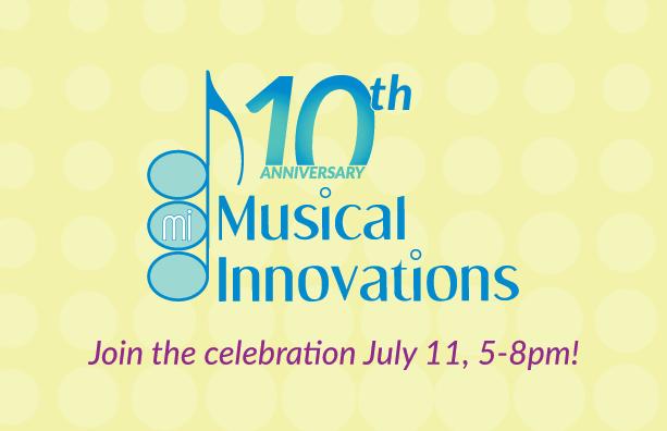 Musical Innovations' 10th Anniversary Logo