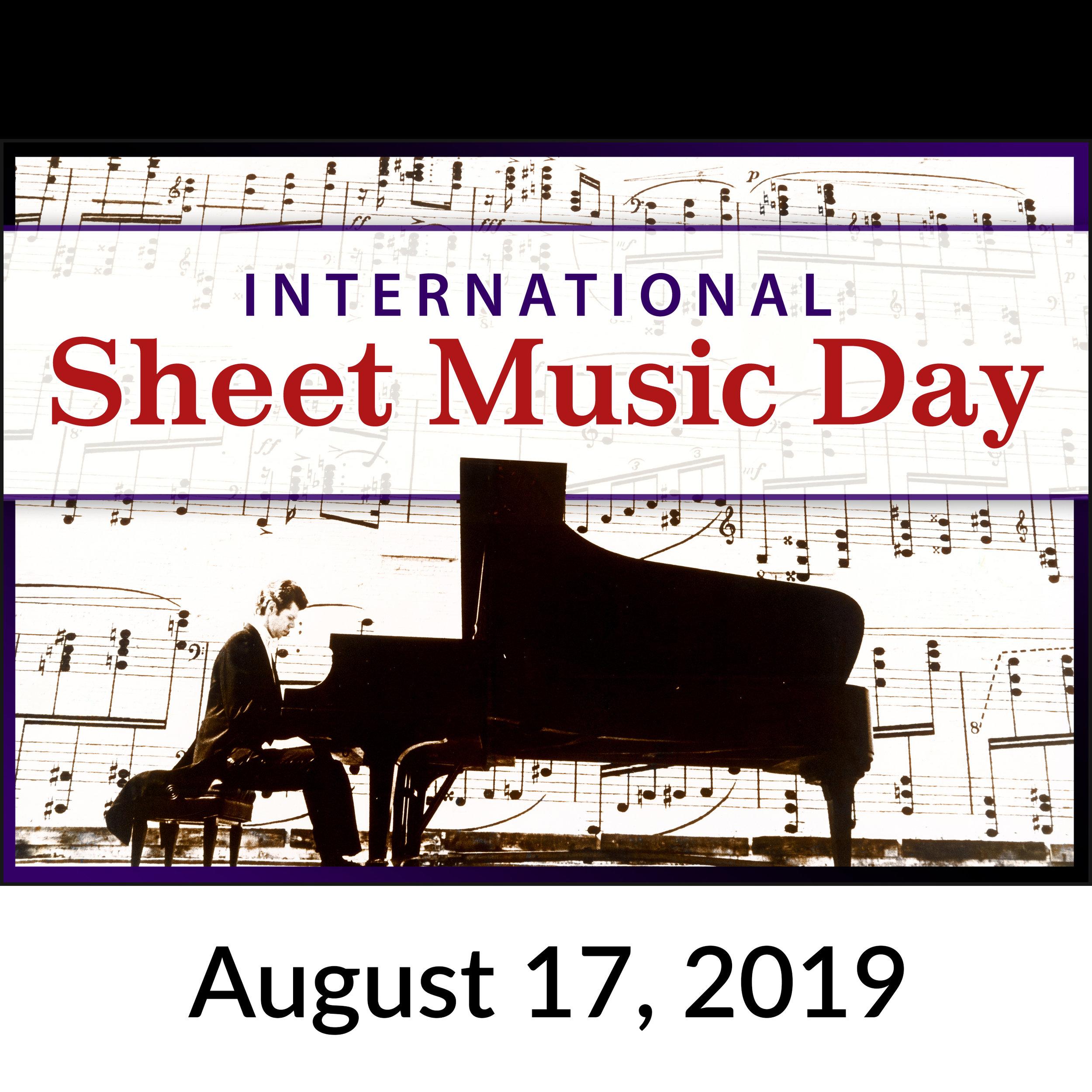 International Sheet Music Day logo #internationalsheetmusicday