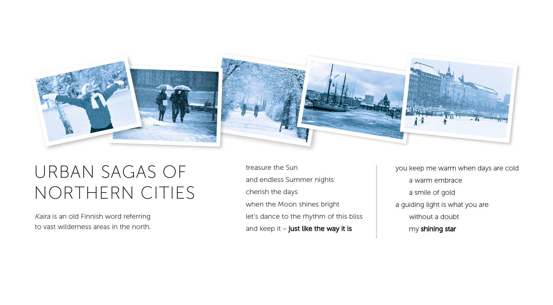 Poems By Emma Larsson, the Swedish born NewYorker who writes our lyrics.