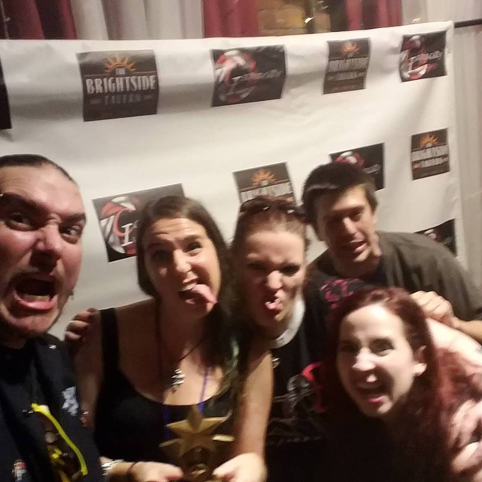 Manny Serrano, Angie Hansen, Lindsay Serrano, Phil Kral, Heather Drew at Brightside Tavern Short Film Festival