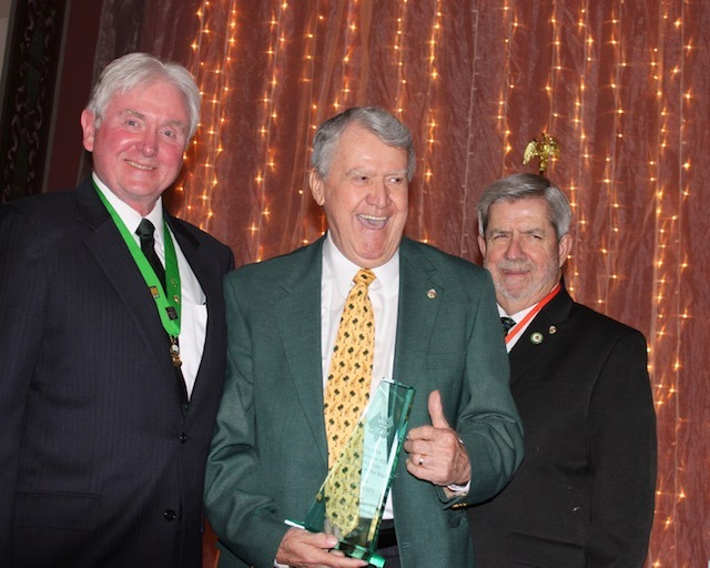 Emcee Denny Maher, Bill Delaney, and 2018 Hibernian of the Year, Denny Donnelly