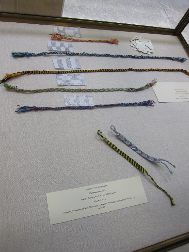 frieze pattern card weavings and friendship bracelets
