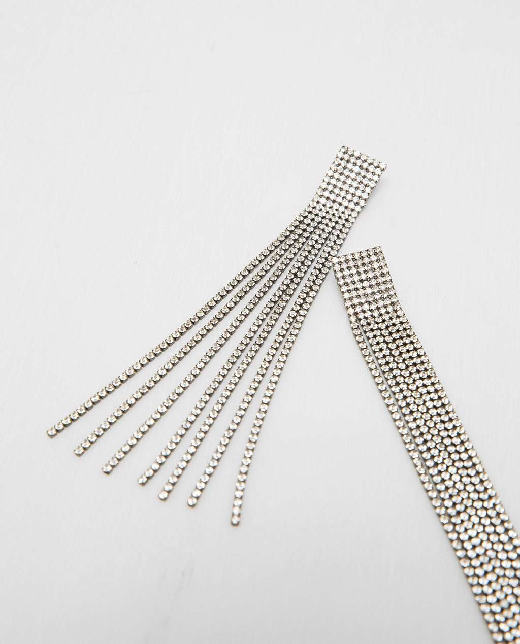 long gemstone earrings $20
