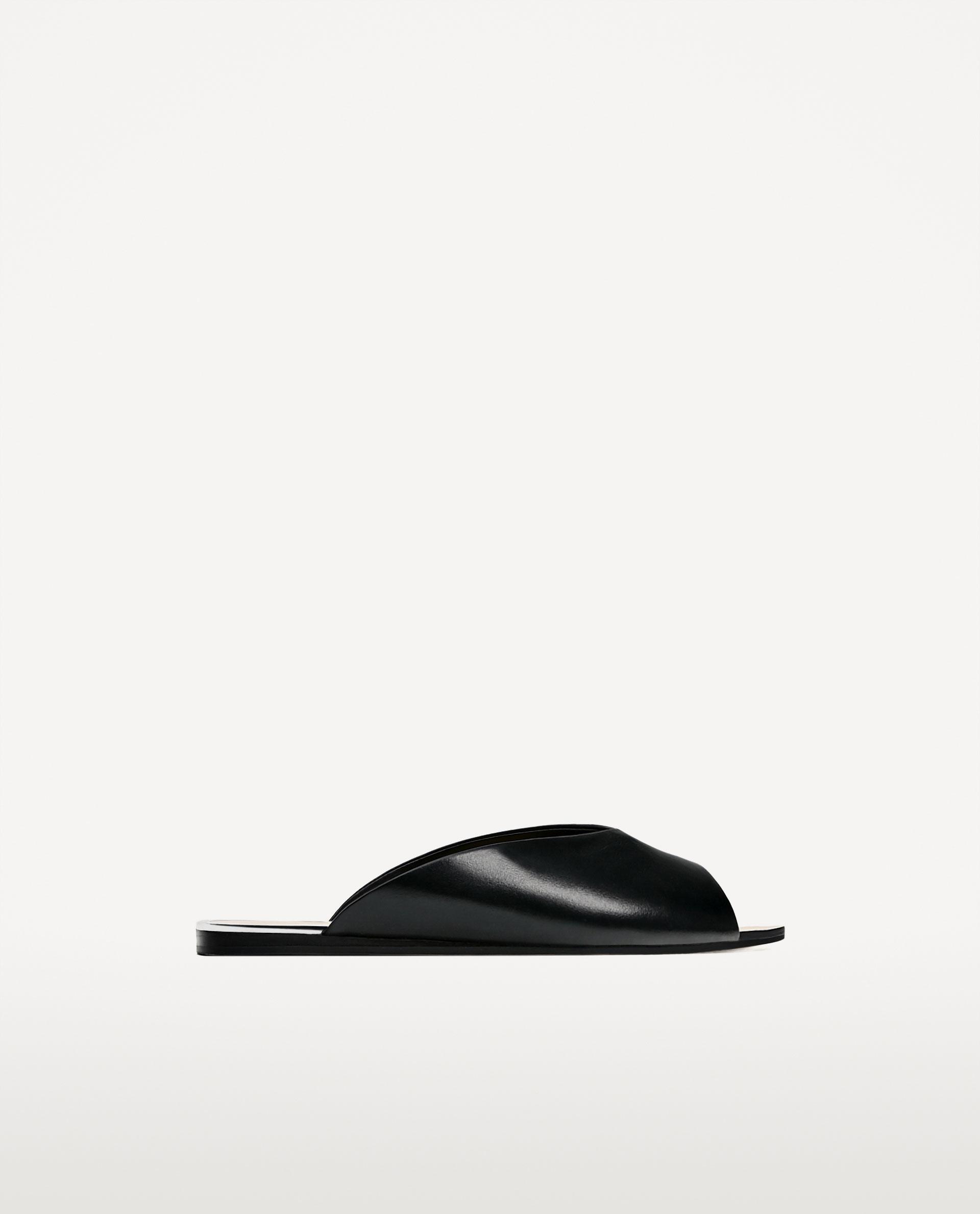 v-cut leather slides $40
