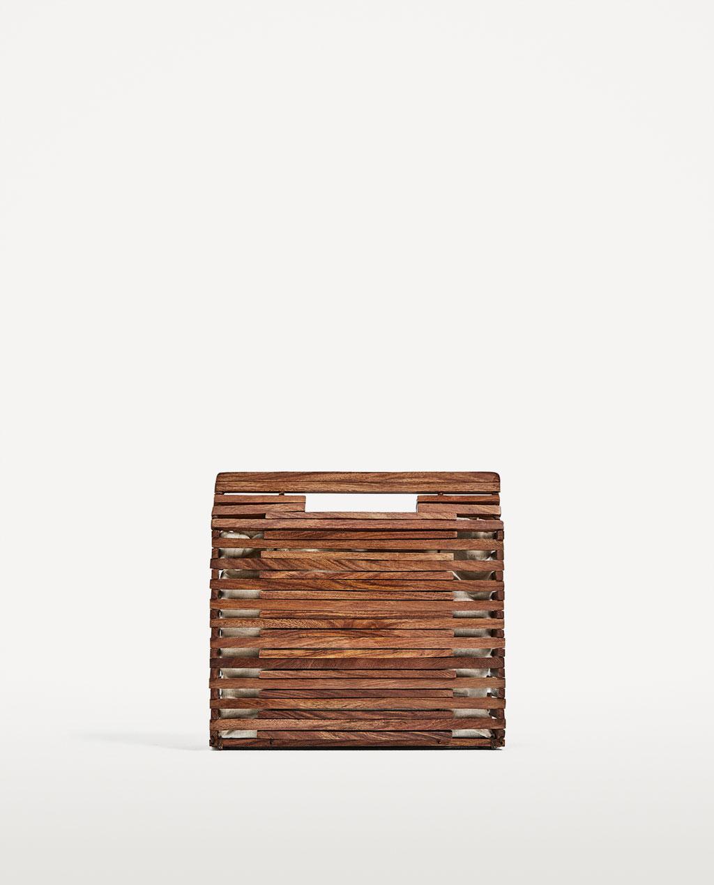 mini wood bag $50
