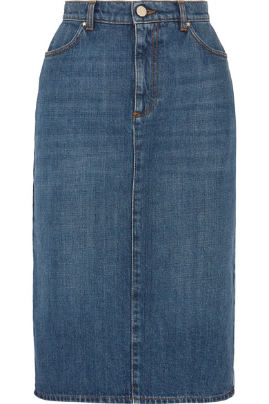 ALEXA CHUNG - denim pencil skirt
