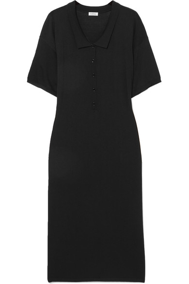 Totême - This knit polo dress is currently my favorite dress in my closet — the perfect cover-up, throw-on dress (who doesn't want to look nice on vacation, even at the breakfast table?) or nighttime (love the side slits) look that can be dressed up or down.