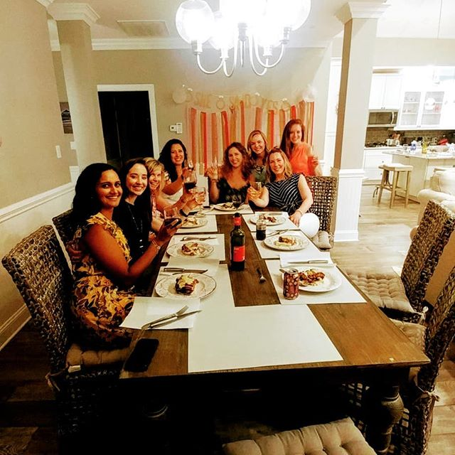 A beautiful beachfront house on Folly Beach was the perfect site for this bachelorette party and another amazing Food Fire + Knives experience!
