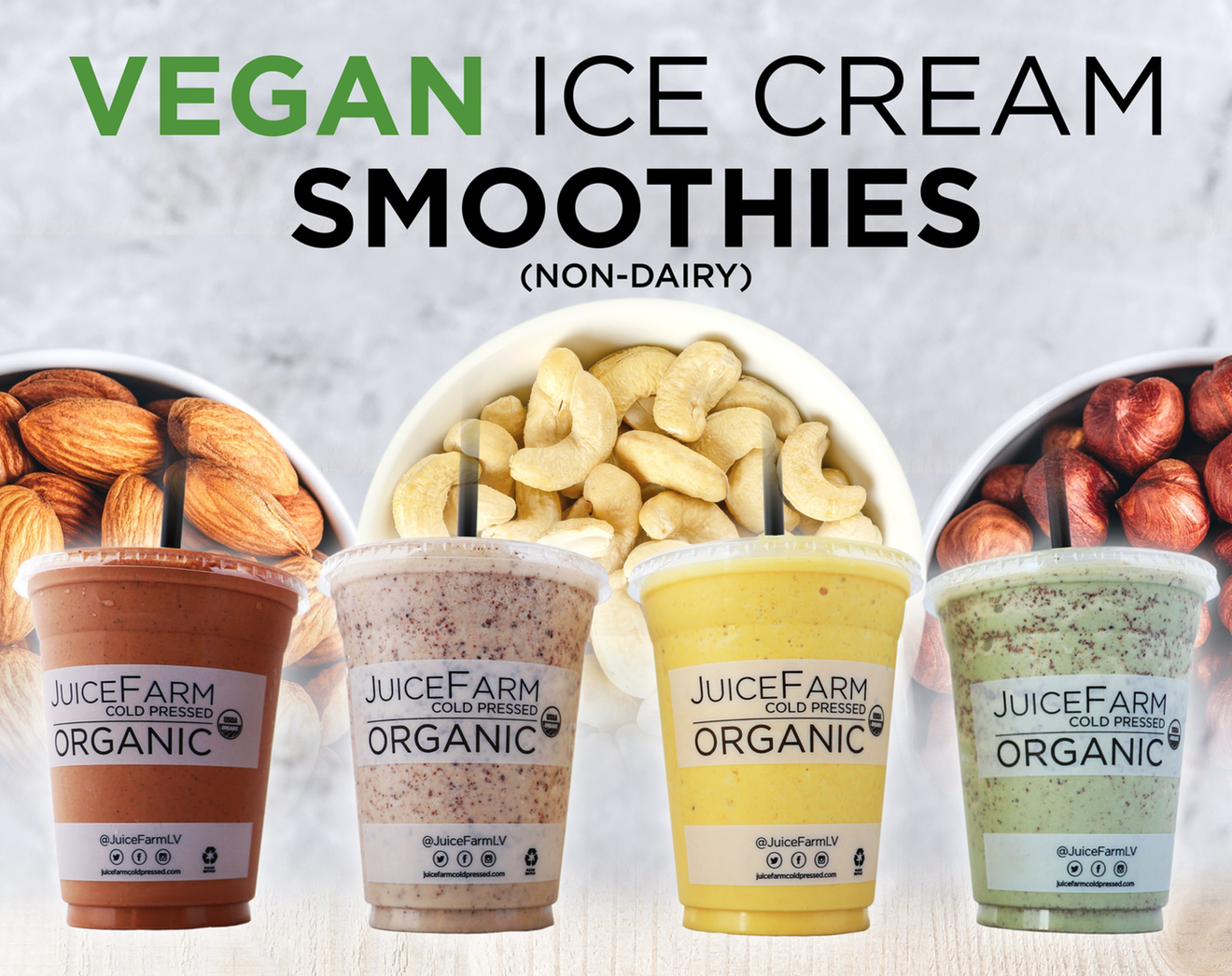 Vegan Ice Cream Smoothies (non-diary)