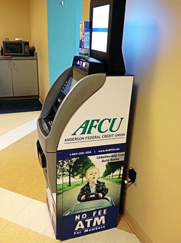 AFCU ATM with Brochure Rack