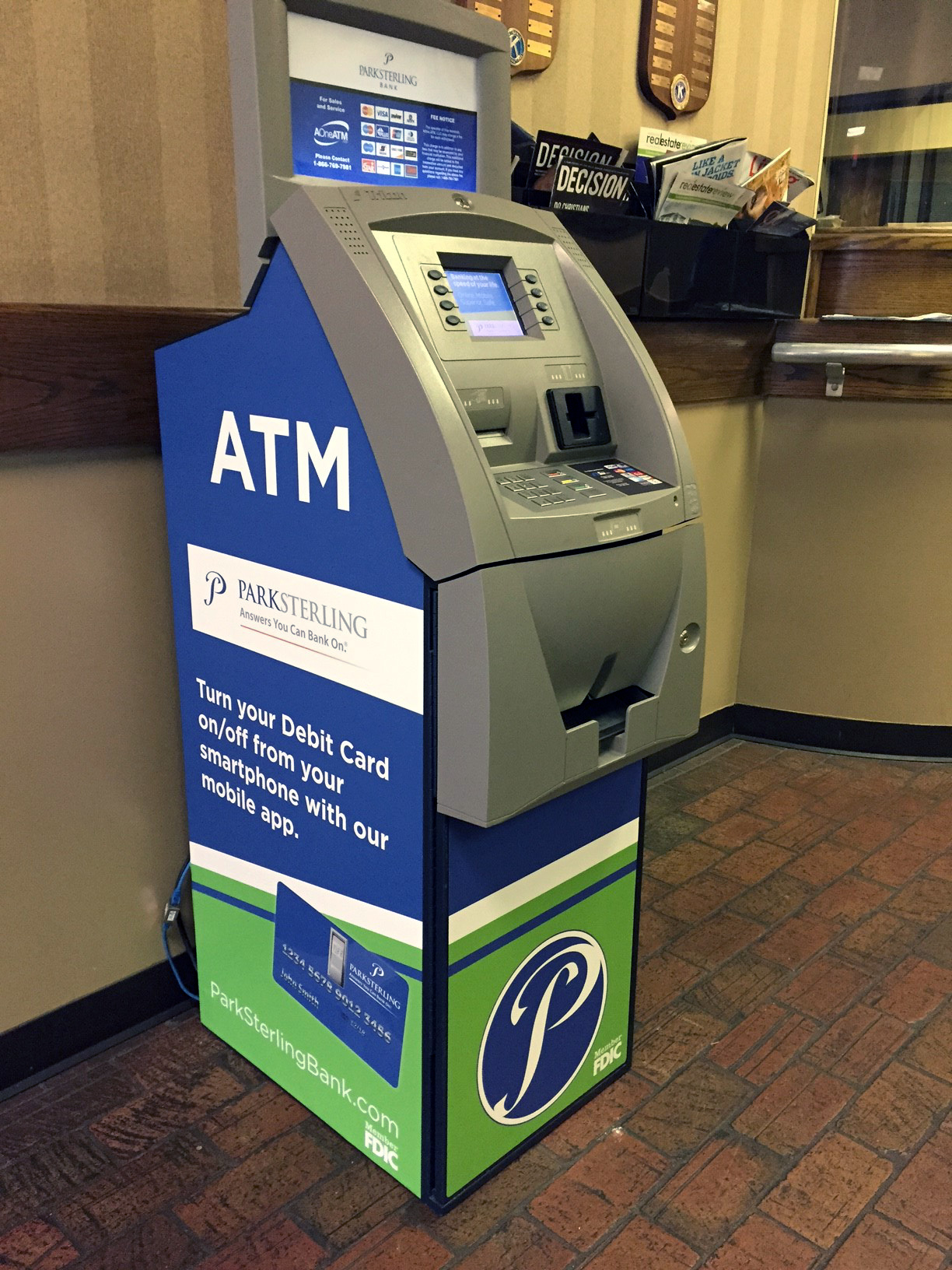 Park Sterling ATM in Mail Room