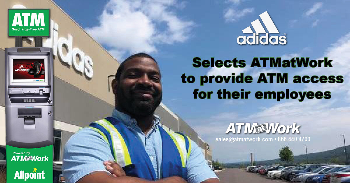 Adidas Partners with ATMatWork to provide ATM Access to their Employees