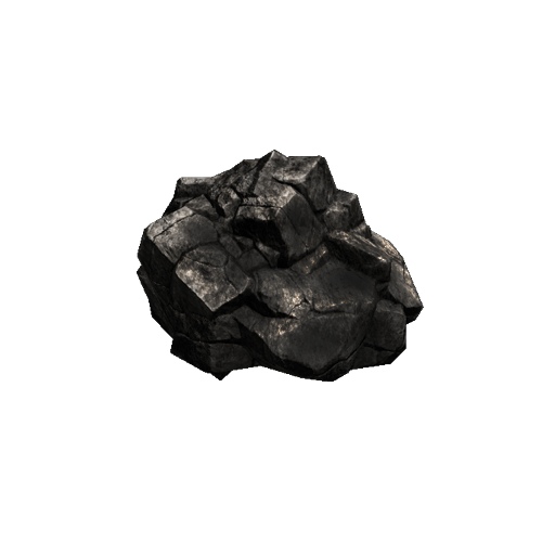Chunk of Coal - Raw material used in smelting and blacksmithing.  Can also be mined from coal nodes found while adventuring.