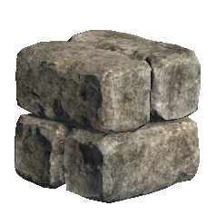 Stone Blocks - Stone blocks of various sizes and shapes that can be used to construct custom structures and walls on a housing lot or in a player owned town