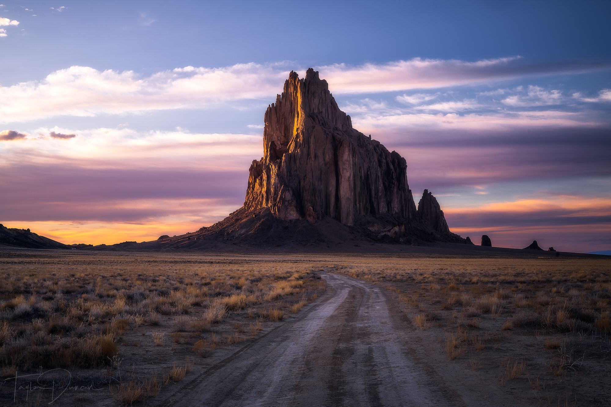 Watching the sunset at Shiprock is an incredible experience!