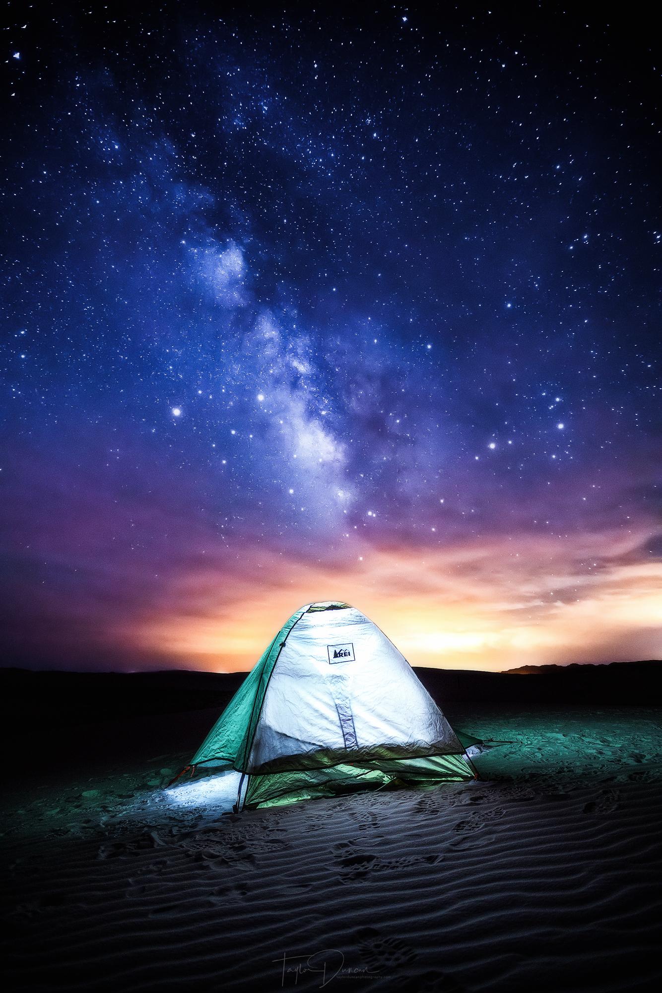 The stars were so bright!