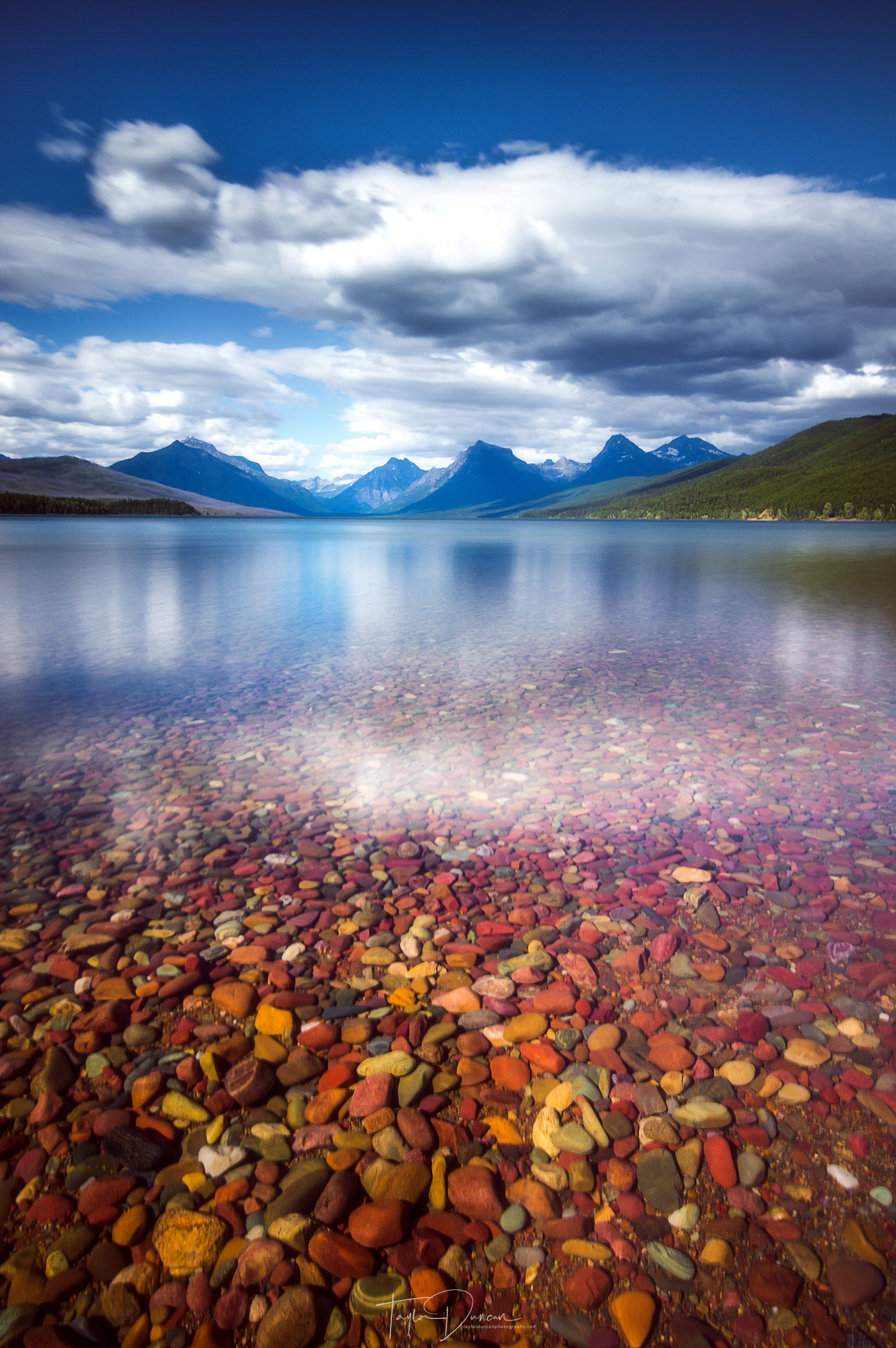 The rocks of Lake McDonald are a must see in the park