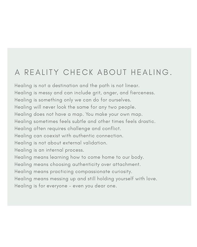 let's get real about what healing means, it's not just bubble baths, so how do you define healing for you?