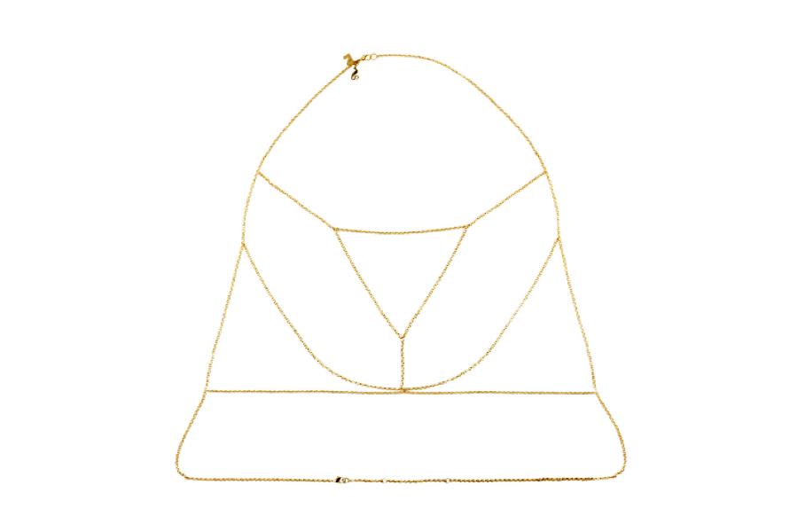 Unbound , Golden Chain Bralette,  $10.00