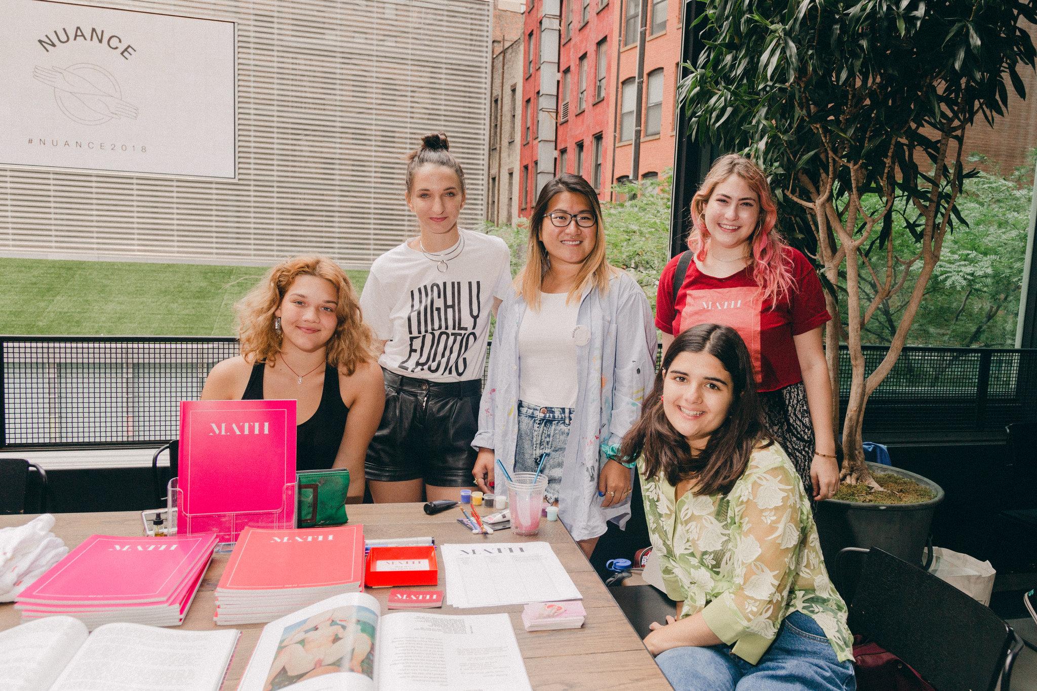Natalie, MacKenzie, Amy, Ginger, and Gina: the Summer 2018 NYC team