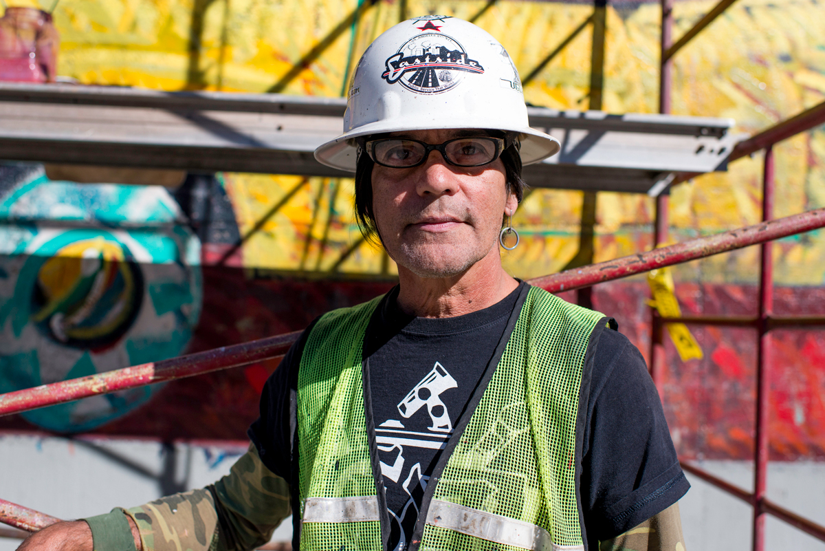 Willie Herrón III, muralist/restorer, Los Angeles.