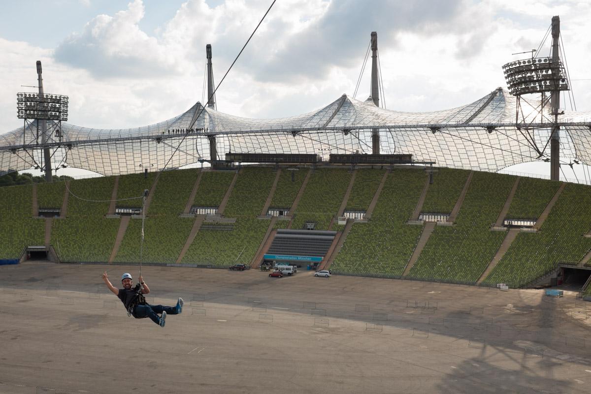 Zip Line Rider, Munich Olympic Stadium