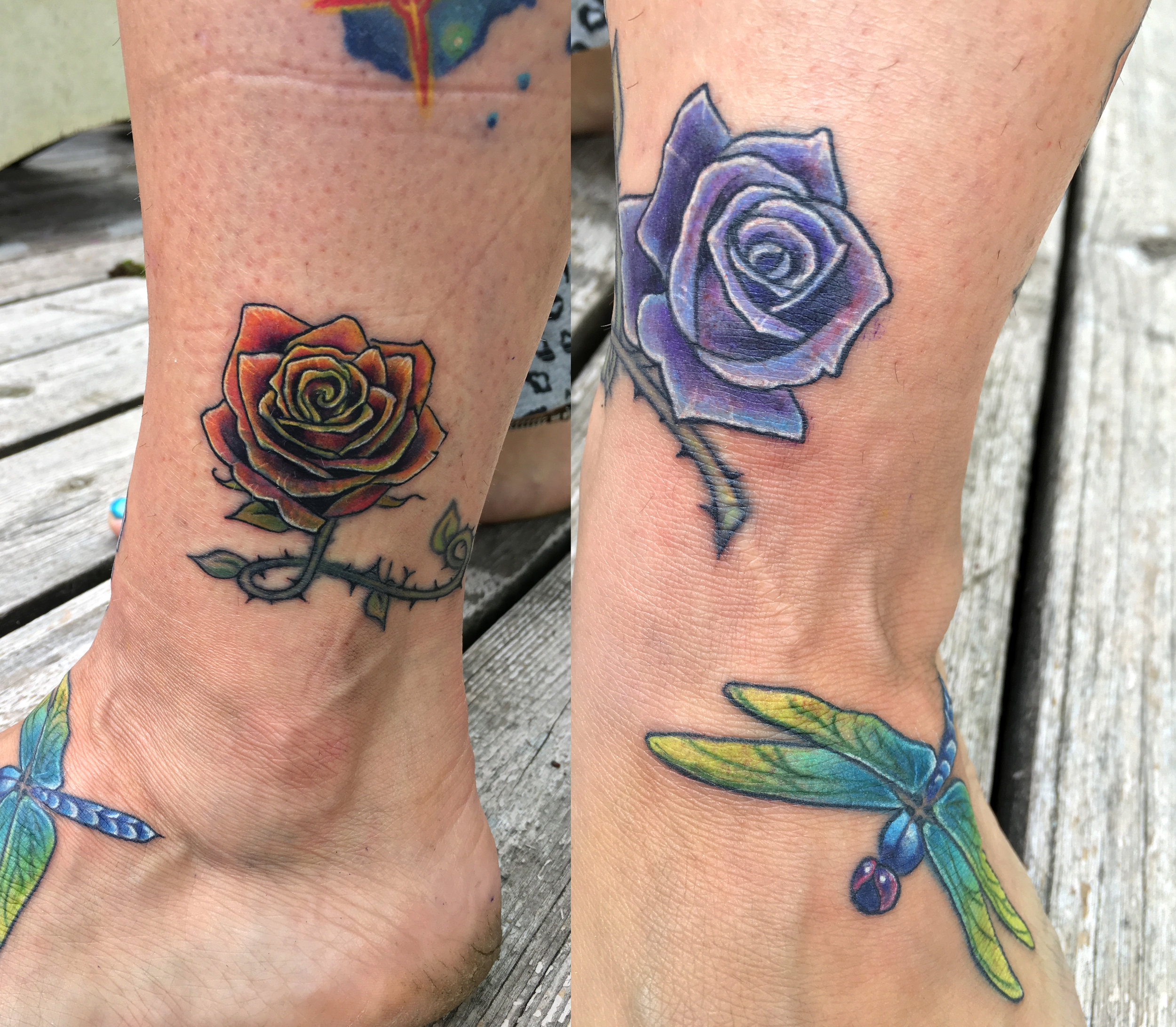 Colleen's coverup rose anklet