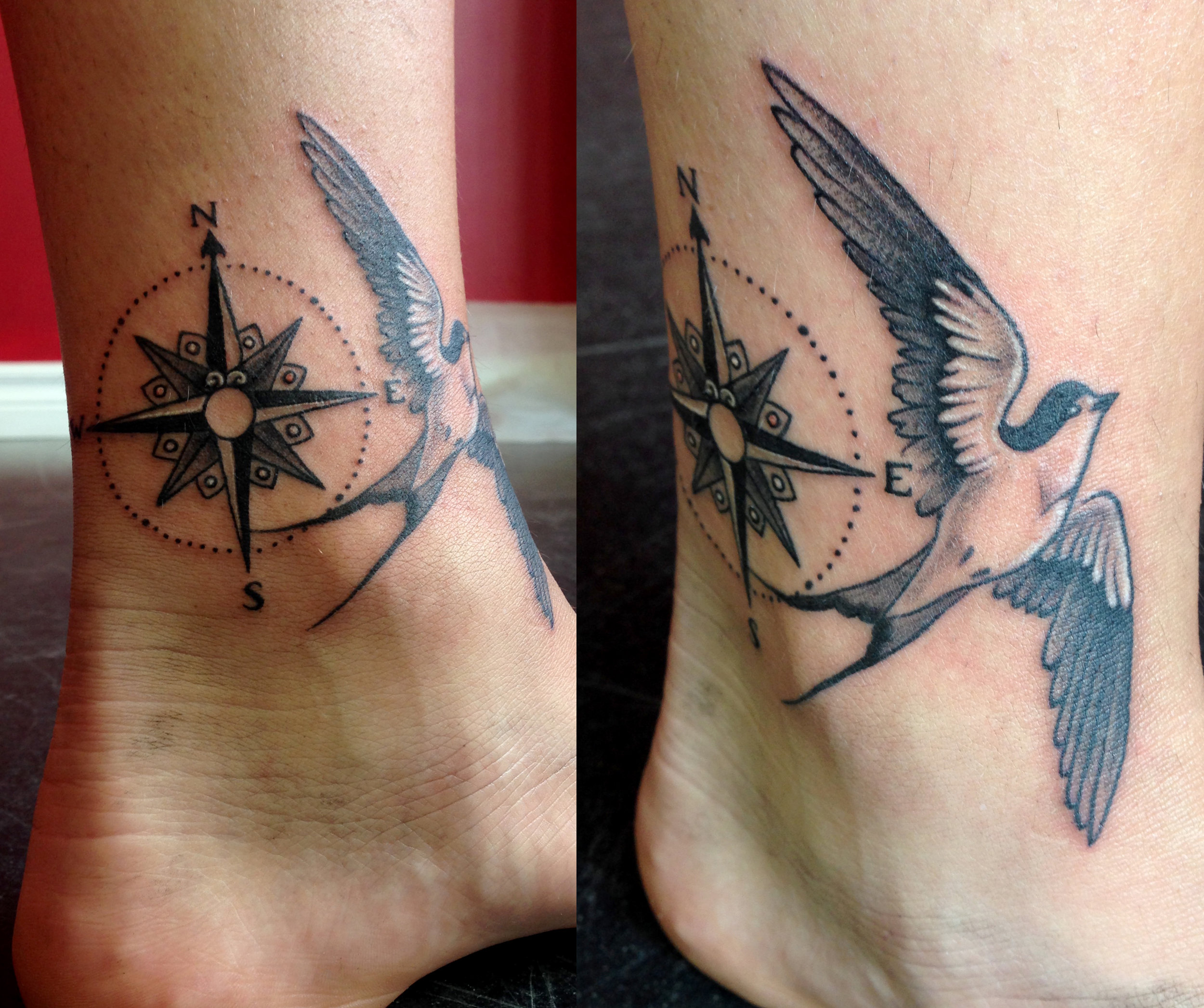 Danielle's bird and compass