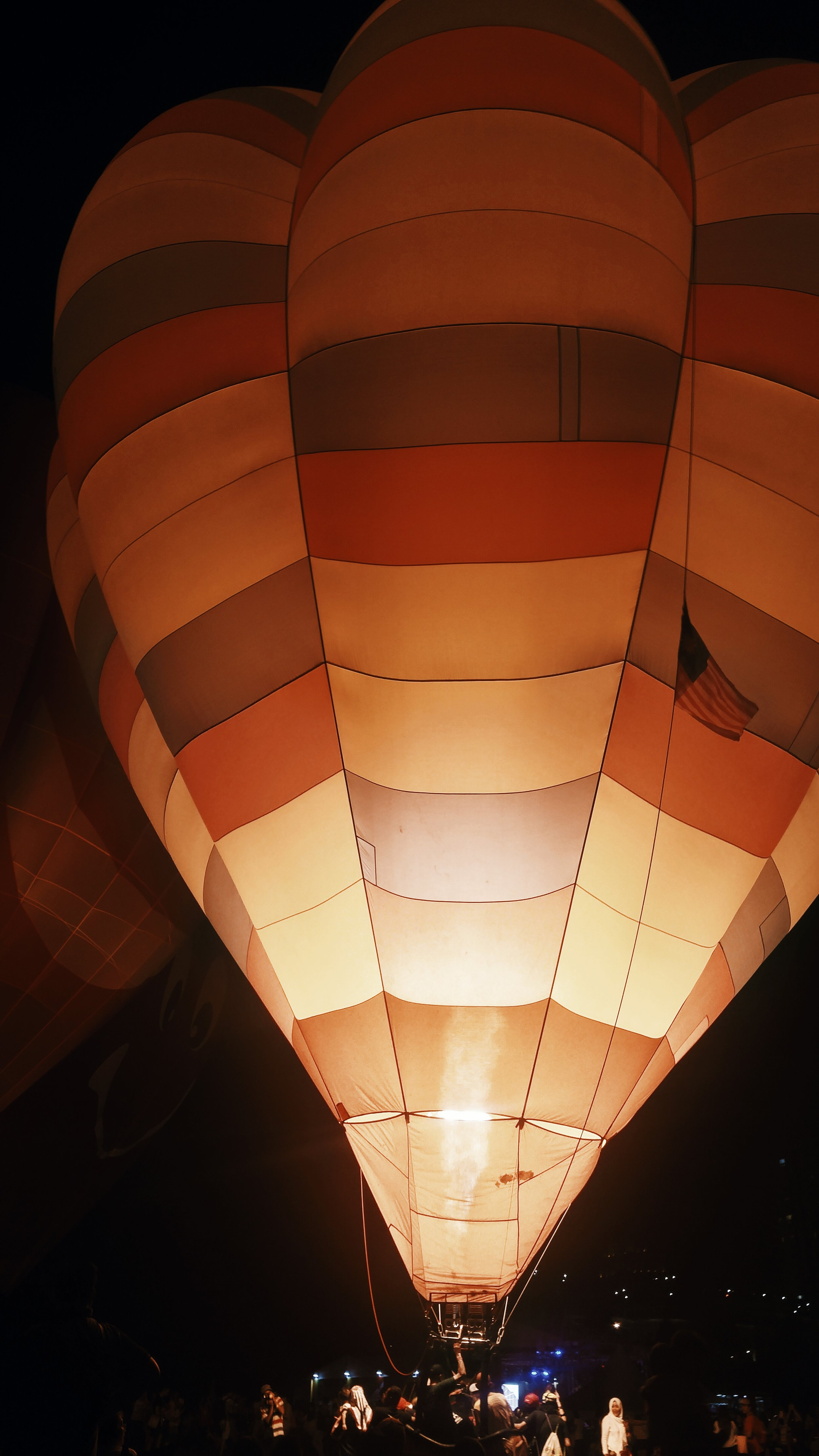 the brightest balloon of the night is a Malaysian balloon, 'Henry J'. cute name!