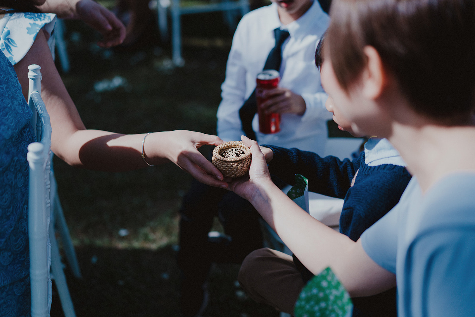 a ring warming ceremony - blessings of the rings by our guests. an idea i found online, actually, and i find it a meaningful way for our guests to be a part of our wedding.