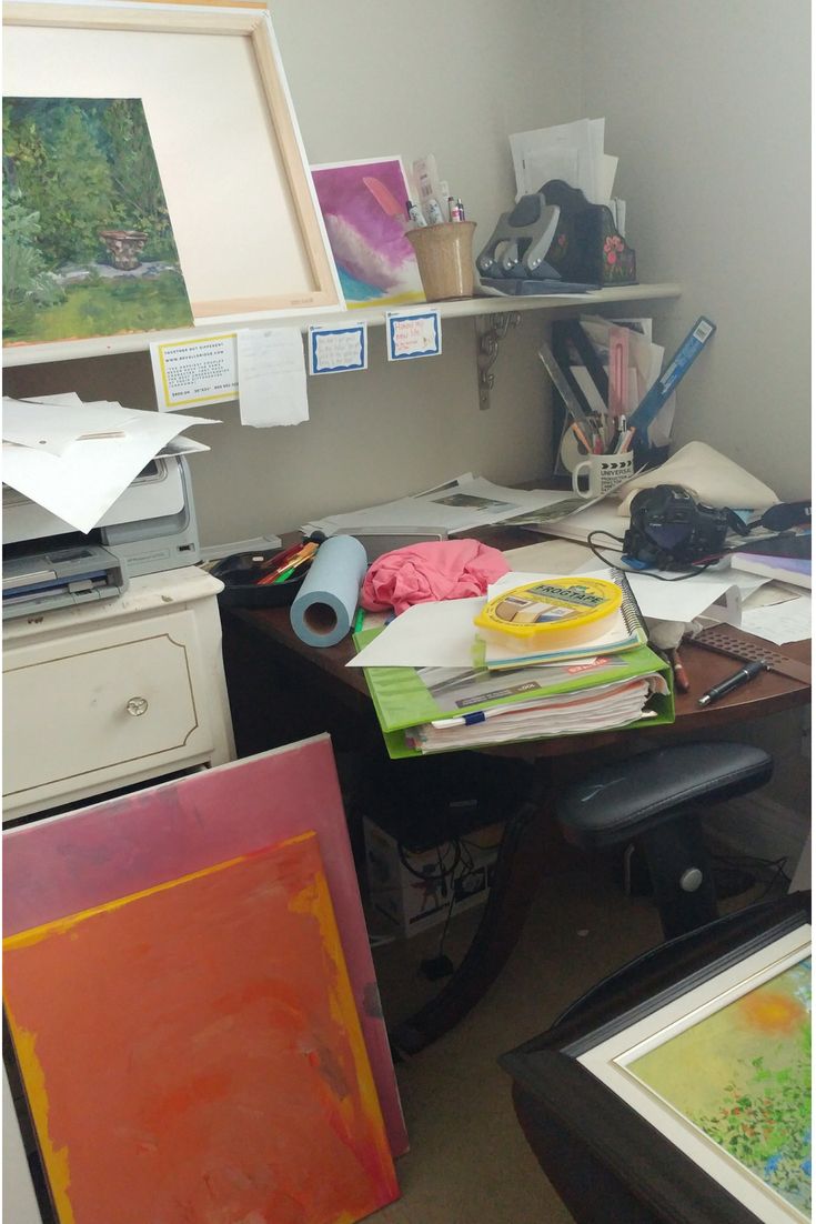 studio, artist, oilpainting, organize, home office, decor, tips, clutter, how to