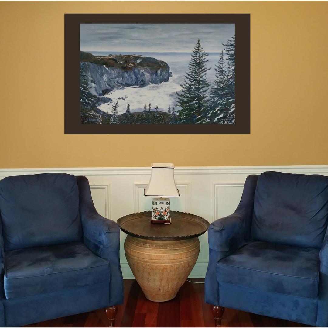 paintimento, Bev Alldridge, holiday, memory, gift for him, gift, Newfoundland, sea, ocean, landscape