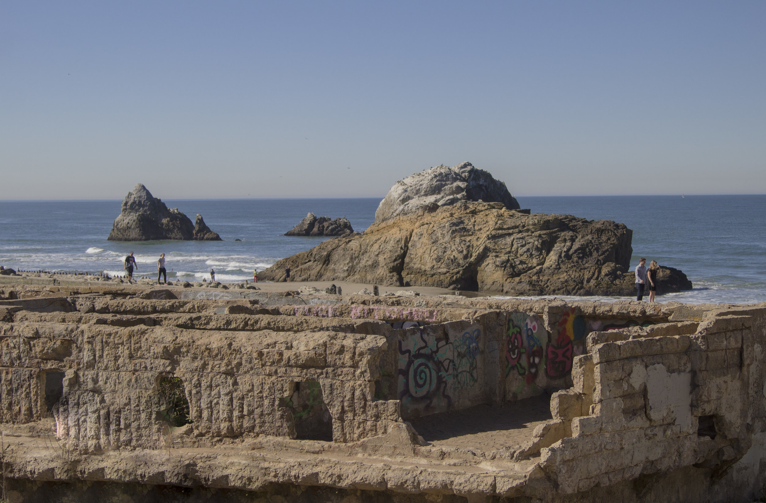 Sutro Bath ruins. Lands End