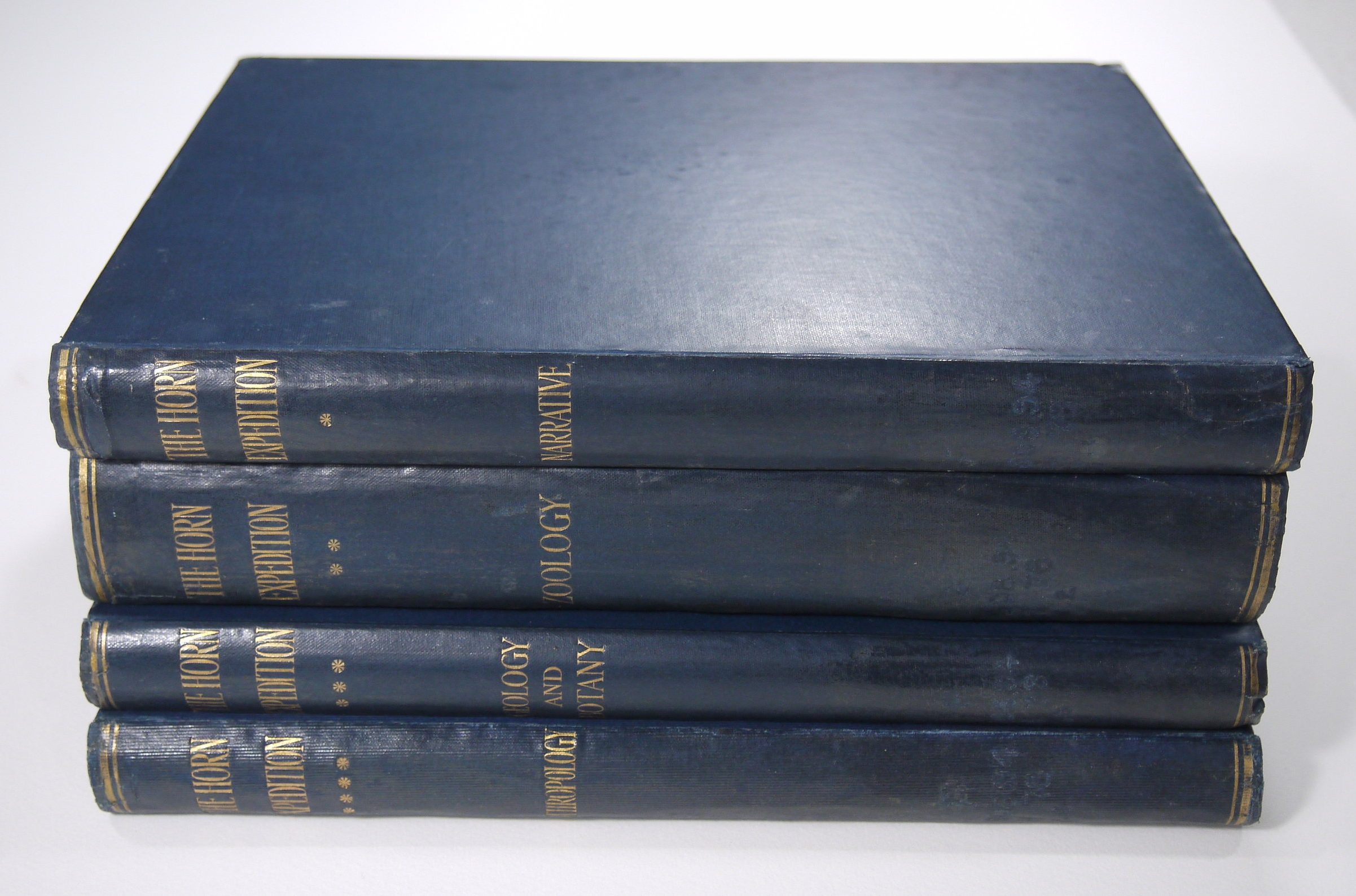 The four volumes after conservation treatment.