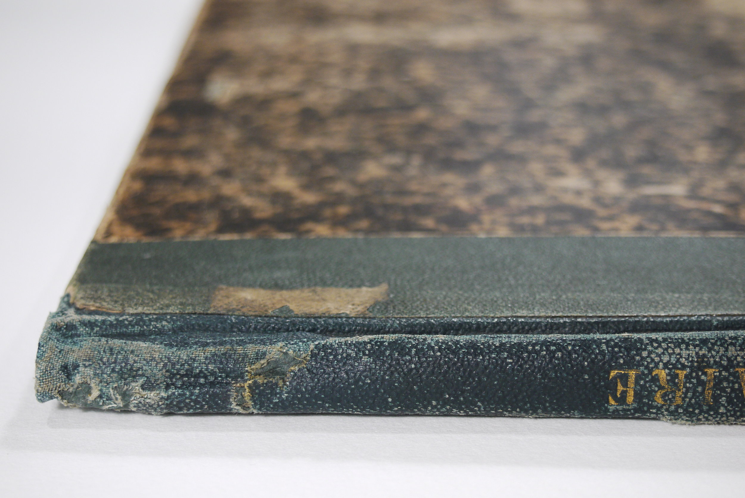 The spine of the book is repaired.