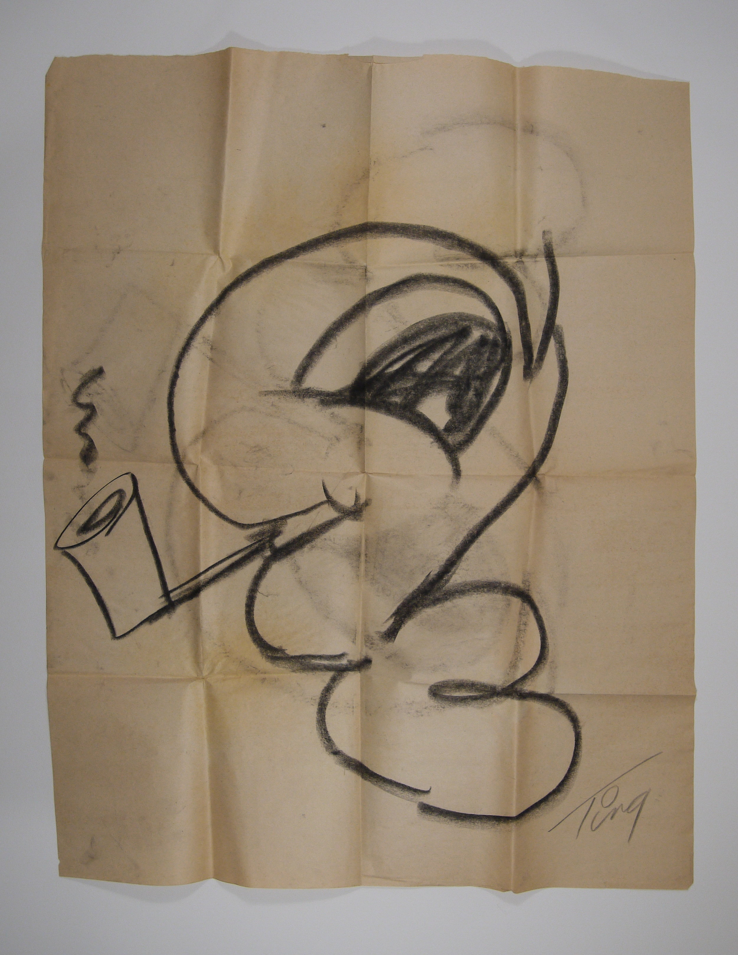 Luke Worm  sketch by Merle Tingley, before conservation.