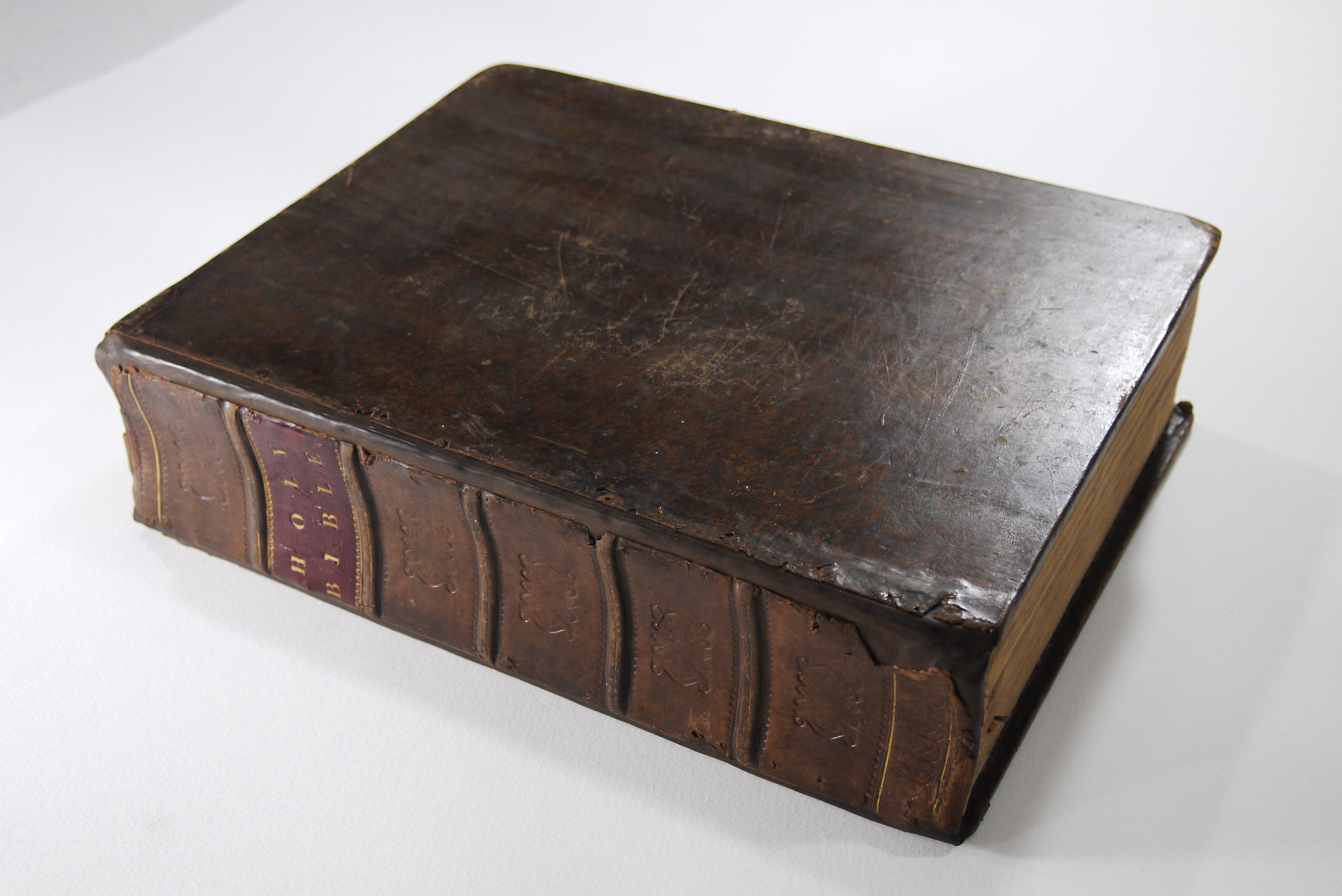 1817 Holy Bible after conservation treatment.