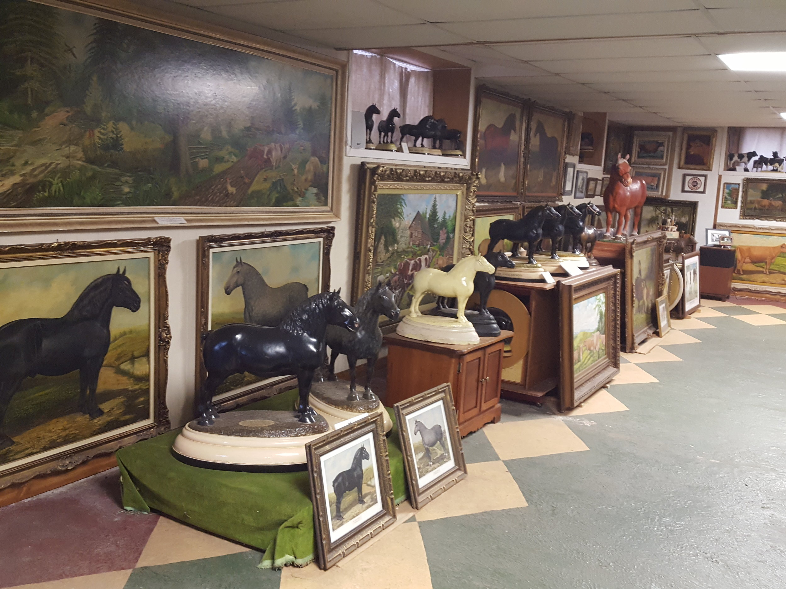 The Ross Butler Gallery, in the Butler family barn, Woodstock, Ontario, Canada.